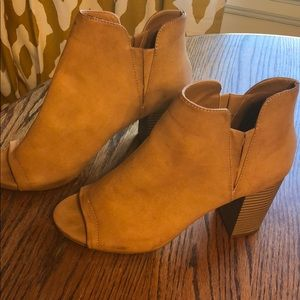 Madden girl leather open toe booties